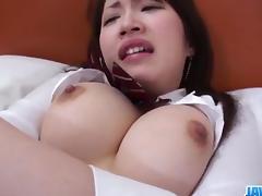 Shizuku Morino busty angel devours cock in nasty ways