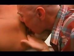 Old fart fucks his nurse