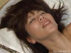 mature japanese slut gives an amazing blowjob