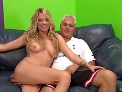 So much hard fucking with the blonde makes her sweat