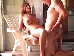 Busty milf fucks and gets a creampie