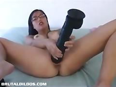 Brutal, Asian, Brutal, Dildo, Extreme, Masturbation