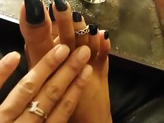 Black Long Toenails