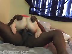 Interracial sex loving couple fucks