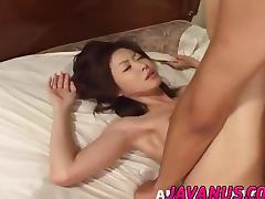 Mai Yamasaki gives blowjob and gets hairy pus