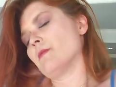 Amateur RedHead MILF Saphire Masturbates and Fucks