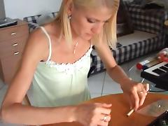 Katerina Sz. in hardcore sex scene with an amateur hot blonde