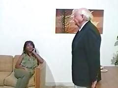 Black MILF Spanking Interracial Asses In Office