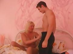 Older horny Russian blonde moaning while being drilled hardcore