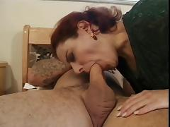Guy fucks hairy old bitch with tattoos
