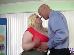 beautiful BBW Klaudia Kelly enjoys a big dick
