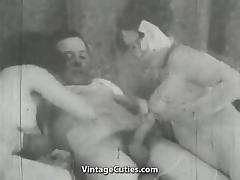 Girl Helps Older Couple Have Sex (1930s Vintage)