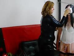 Mistress Lucrecia and feminization of her slave