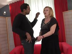 Salacious granny with a hairy pussy enjoying a mind-blowing interracial fuck