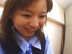 Japanese OL spitting on coworker