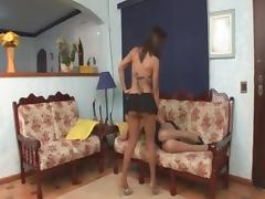 Girl is the best lover for any tranny