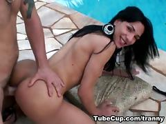 Natalia & Willian in Poolside dessert Scene