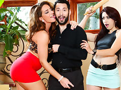 Savannah Fox & Mandy Muse & Tommy Pistol in My Husband Brought Home His Mistress #07, Scene #04