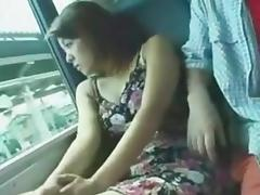 Train, Amateur, Asian, Fucking, POV, Public