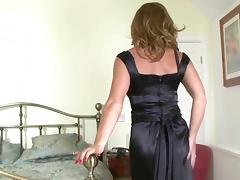 Silk, Masturbation, Mature, MILF, Stockings, Satin