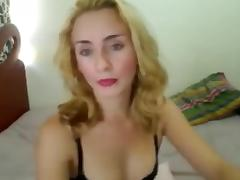 Small Breasted Blonde Shemale Solo Wanking
