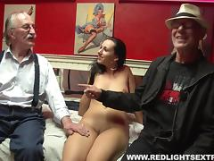Old guy spends some pension money to eat a hooker's hole