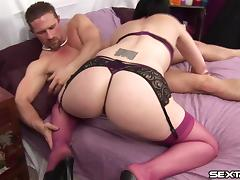 Check out how her muff gets fingered and teased with a vibrator by her stud