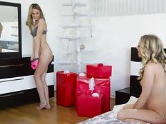 Super horny lesbian blondes love face sitting and skilled oral sex
