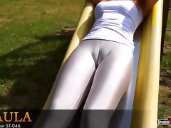 Cameltoe, Cameltoe, Spandex, Spanish, Teen, Young
