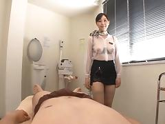 Japanese escort uses oil and blowjobs to please her clients