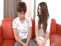 Finger fucked Japanese cunt is juicy for cock riding