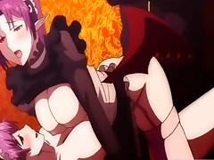 Maids anime threesome fucked