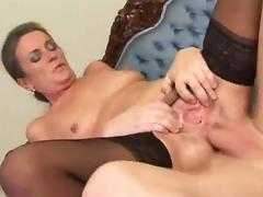 Old woman fucked in the ass