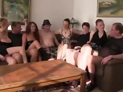 Rough orgy at home