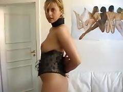 attractive bondage sex with a blondie