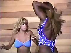Wrestling, Catfight, Interracial, Wrestling, Fight