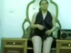Chubby arab girl teases her man naked in the bedroom with her big boobs and shaved pussy