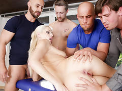 Blanche Bradburry, Tarzan, Neeo in 4 On 1 Gang Bangs #06, Scene #03