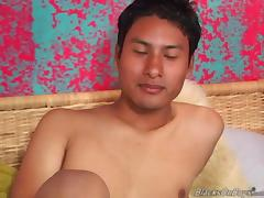 Mexican dude sucking black cock