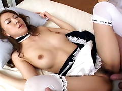 French maid Yuka Koizumi pleases her sexy man