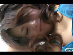 Hands tied up high Hina Aisawa pussy good vibrations and oralsex
