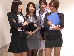 Hot Asian students using their pussies on their favorite teacher