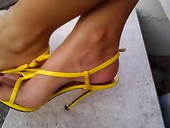 Yellow High Heels, Red Nails