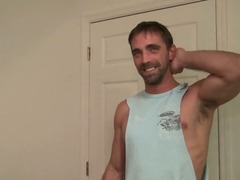 Str8 guy first time gay fucking interrupted by another Str8 guy