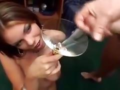 8 girls consume 113 shots of cum