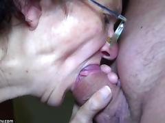 OldNanny Mom and Teen masturbating and sucking dick boyfrien