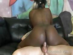 Bubble butt black teen interracial extreme rough fucking