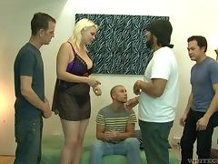 Hottest pussy drilling session spiced up with the gay cock sucking