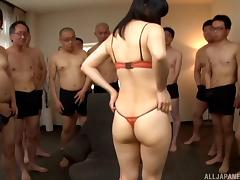 Anno Yumi always loved cocks and this was the best day of her life!