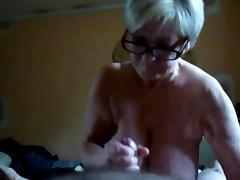 Grandmother, Big Tits, Boobs, Granny, Handjob, Mature